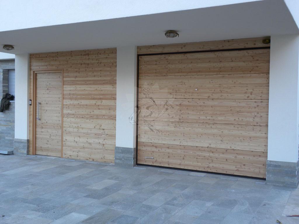 Portoni garage falegnameria pojer for Due progetti di garage per auto