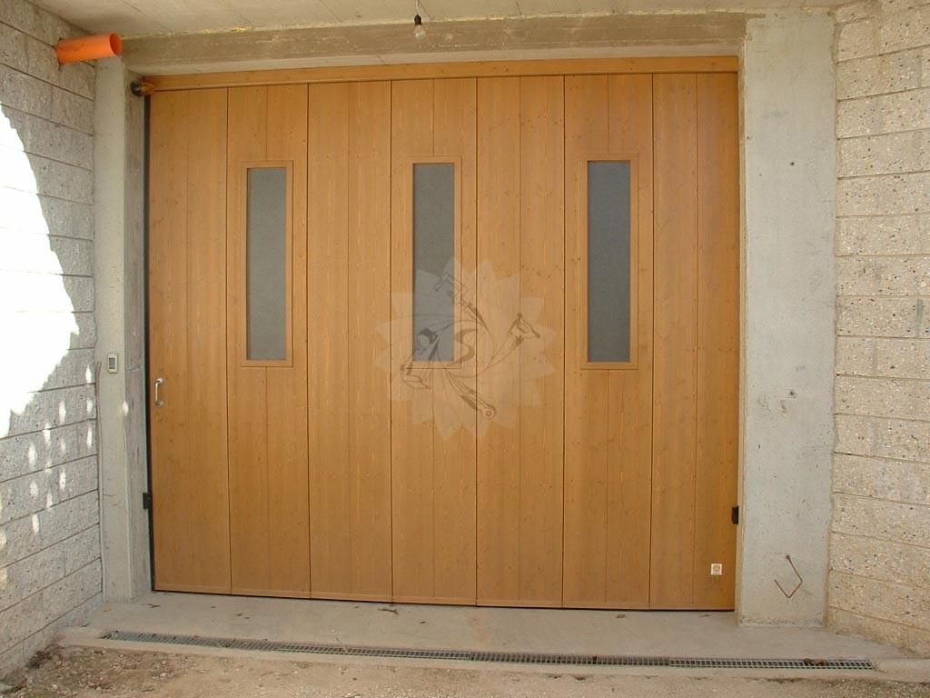 Portone garage scorrevole laterale falegnameria pojer - Porta garage scorrevole ...